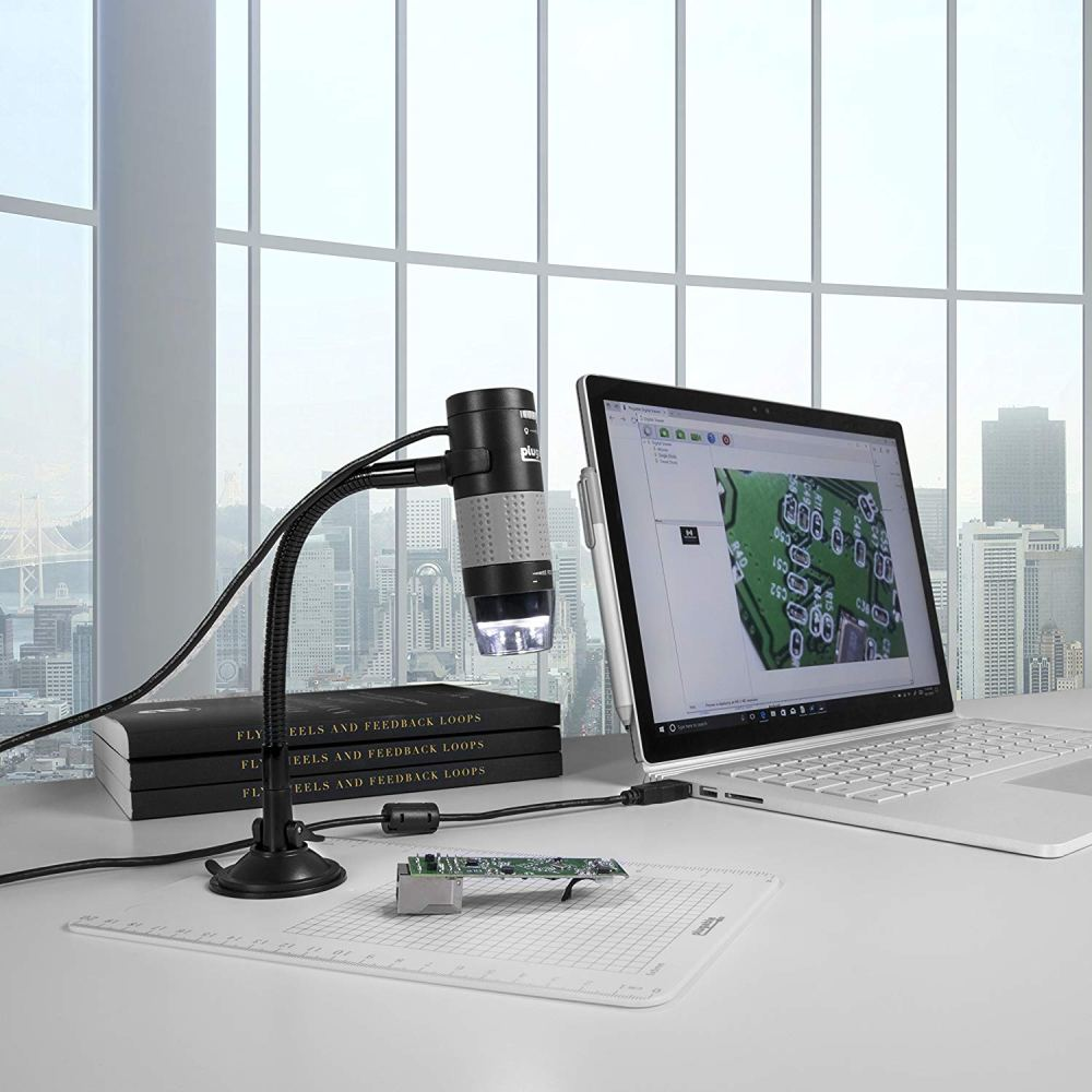 【2021 New Years Special】Compact WIFI Microscope Easy to Use Silver Gray Convenient Wireless Microscope Reliable Performance for Observation Observe Small Objects