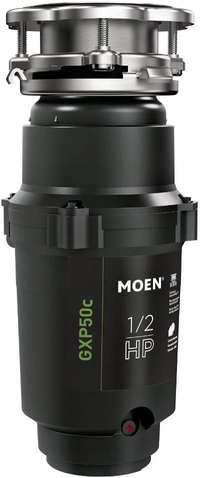 Moen GXP50C GX PRO Series 1/2 HP Continuous Feed Garbage Disposal
