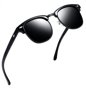 best men's sunglasses semi rimmed