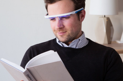 LED light therapy glasses