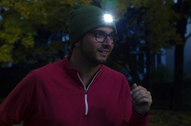 if you walk at night, check out this $15 LED light beanie