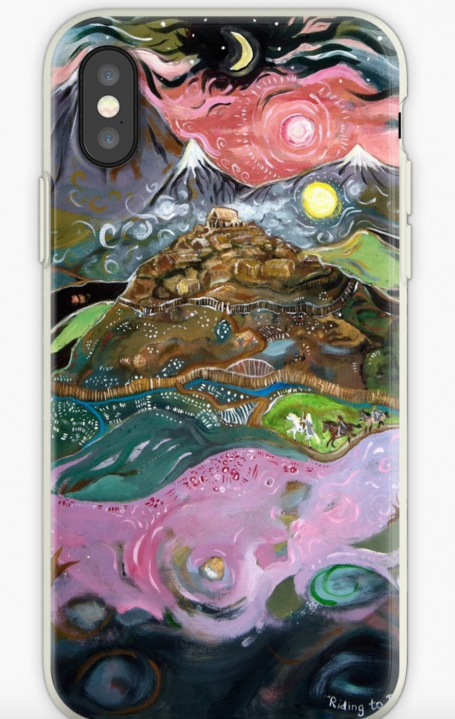 lord of the rings riding to Rohan phone case two towers