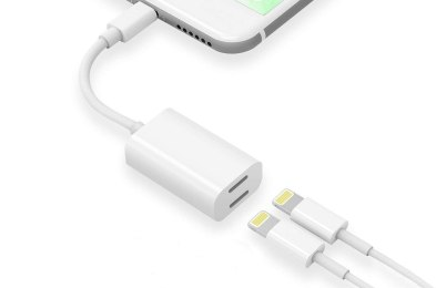 splitter has all 5-star reviews and lets you charge your phone while listening to music at the same time