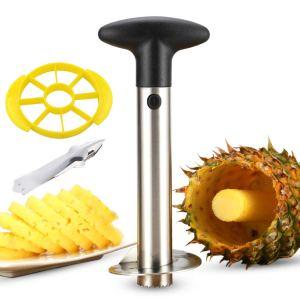 kitchen hacks fruits vegetables pineapple corer