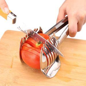 kitchen hacks fruits vegetables tomato slicer