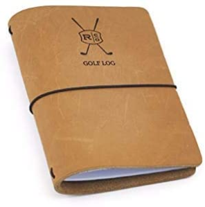 leather golf log book