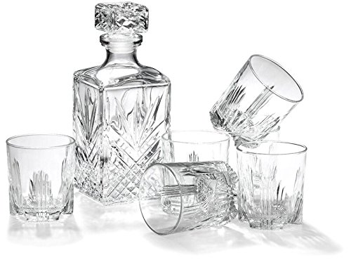Glass Whiskey decanter and glass sets