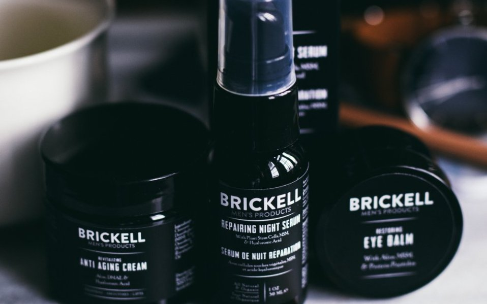 Brickell anti-aging products for men