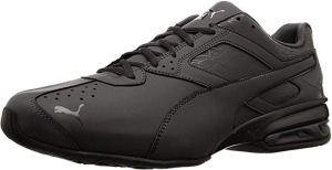 black gym shoes laceup