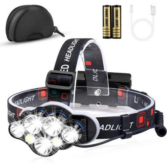 7-LED bright headlamp