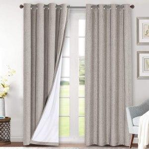 H.VERSAILTEX Linen Blackout Curtains