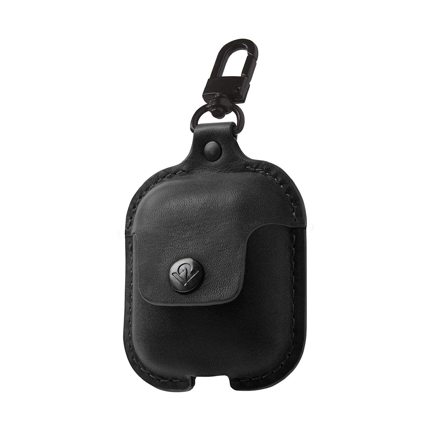 Leather Airpod Case Black