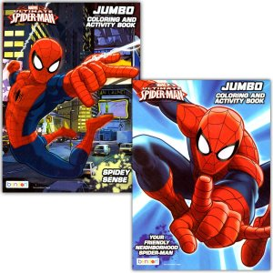 coloring books spiderman