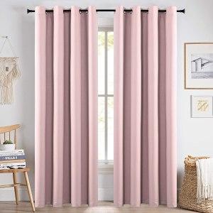KEQIAOSUOCAI Baby Pink Curtain