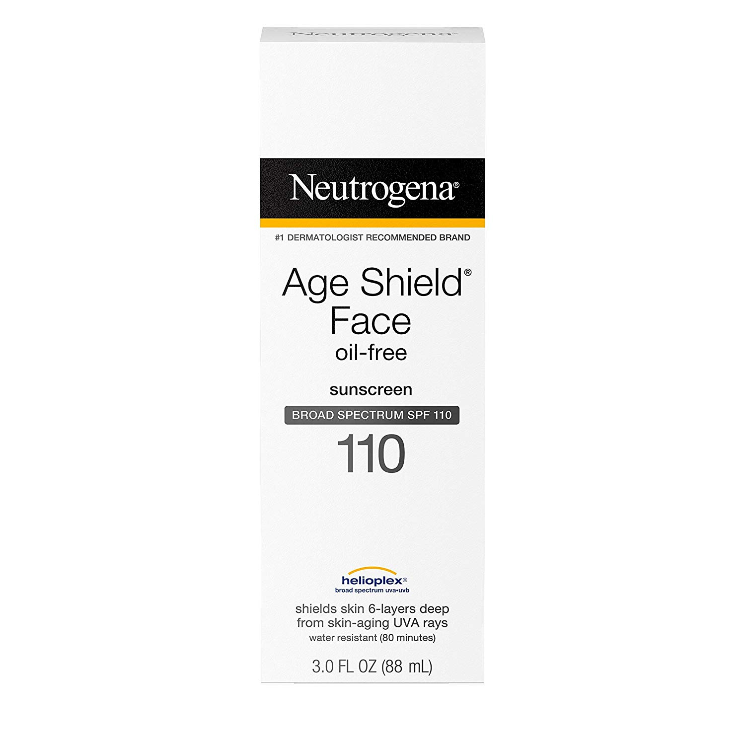 Neutrogena age shield face sunscreen with spf 110