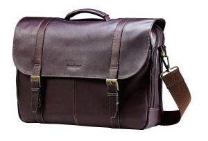 Vintage Leather Briefcase Samsonite