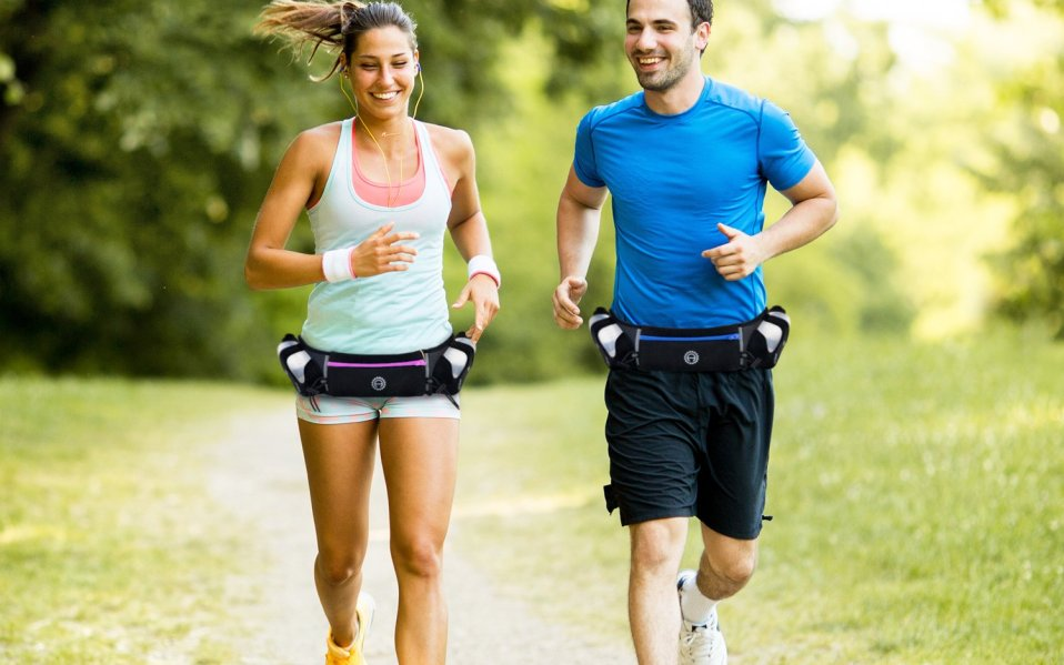 Runners Man and Woman