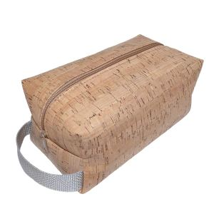 Genuine Cork & Canvas Toiletry Bag