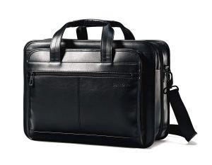 Black Leather Briefcase Samsonite