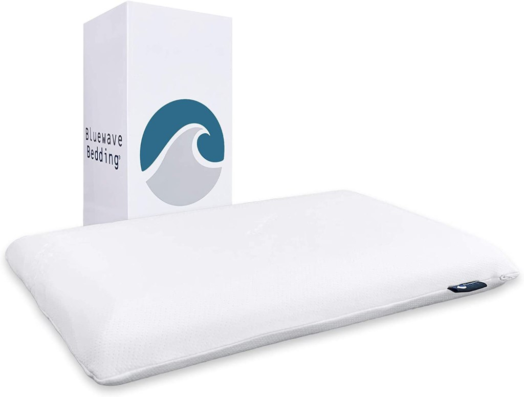 Bluewave Bedding Super Slim Gel Memory Foam Pillow
