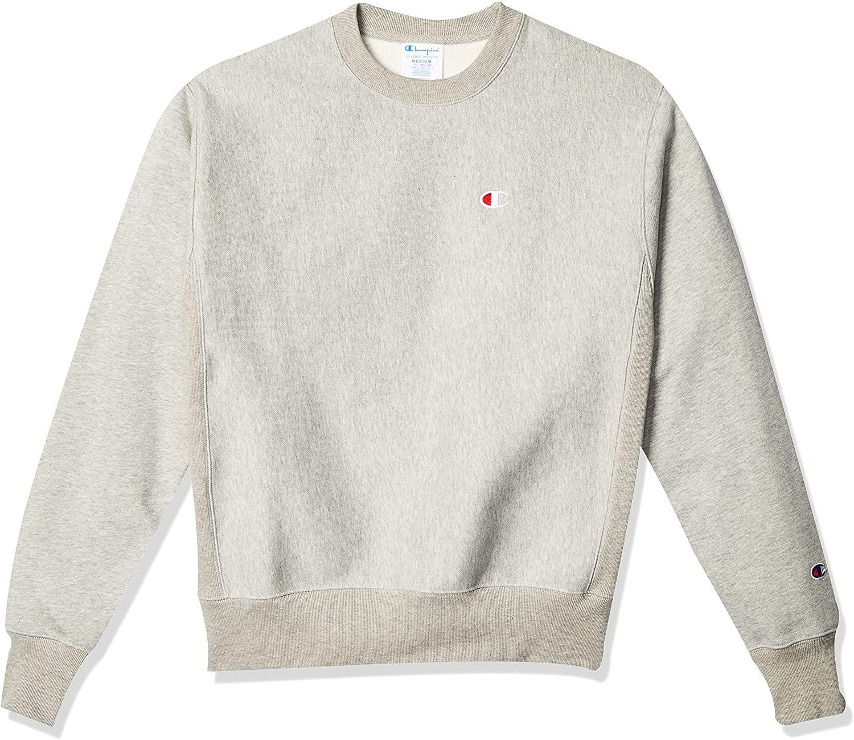 Champion Men's Reverse Weave Sweatshirt in grey