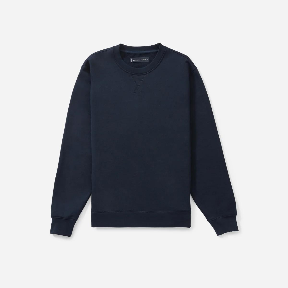 Everlane French Terry Crew Sweatshirt in navy