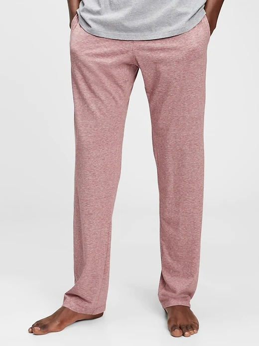 Gap Knit Lounge Pants in red