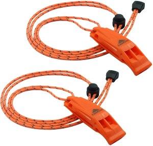 LuxoGear emergency whistle, hurricane essentials kit supplies