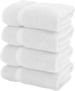 best absorbent bath towels white
