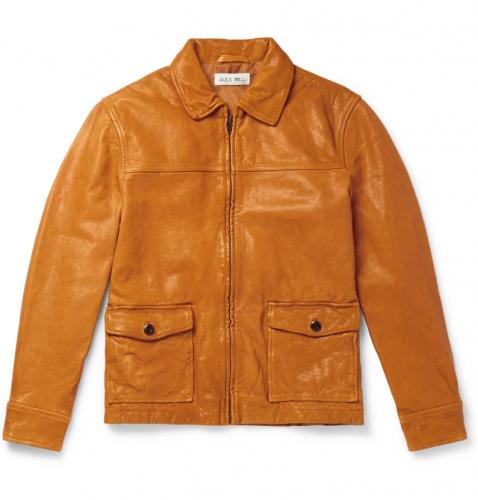 Alex Mill Tumbled-Leather Jacket