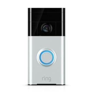 ring smart alexa-enabled doorbell on a white background