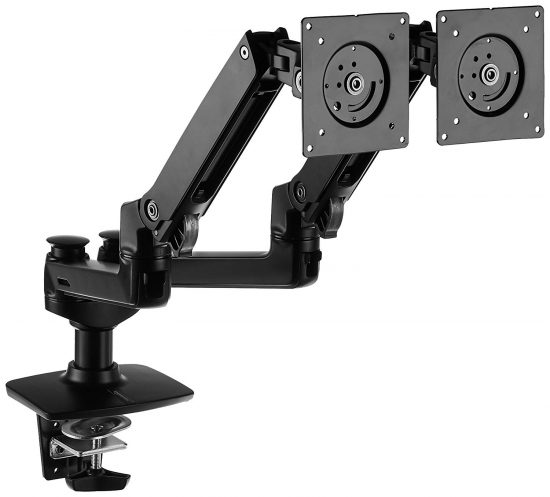 Articulated dual monitor stand