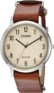 best citizen watches casual leather