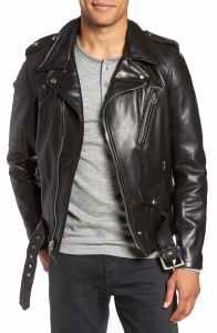 Leather Biker Jacket Schott vintage