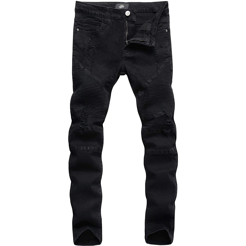 ZLZ Slim Fit Biker Jeans
