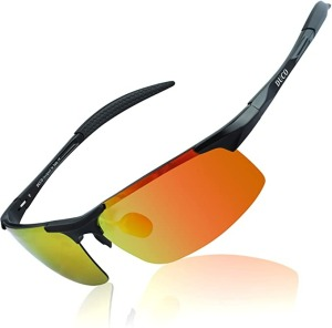 DUCO Mens Sports Polarized Sunglasses