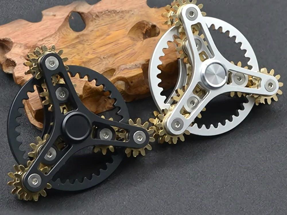 Brass Designer Fidget Spinners Unique Educational Anti-Stress-Business Closing