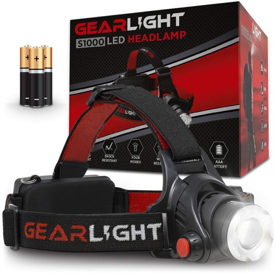 Gearlight bright LED headlamp