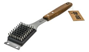 how to clean barbecue grill brush scraper combo