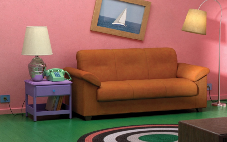 simpsons living room in real life ikea tv show living