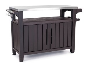 Keter Unity XL Indoor Outdoor Entertainment BBQ Storage Table
