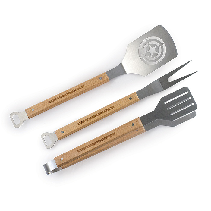 Captain America BBQ Tool Set