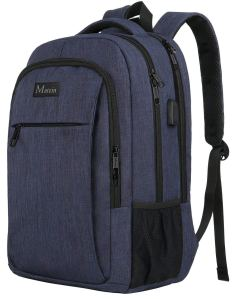 Matein USB Backpack Blue