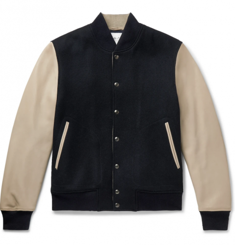best men's leather jackets - Mr P. Melton Wool and Leather Jacket