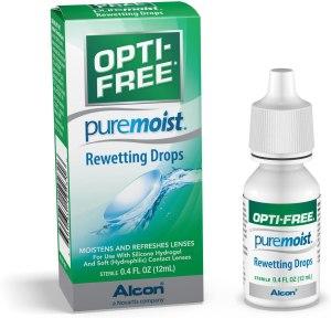 opti-free pure moist eye drops, best eye drops for contact lenses