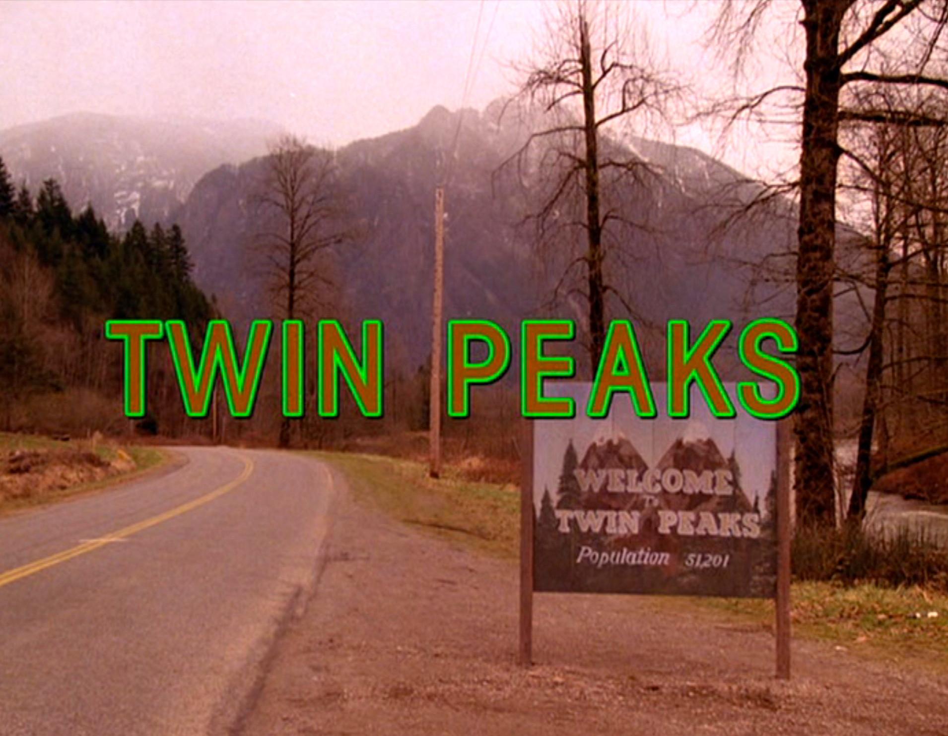 Twin Peaks title card intro