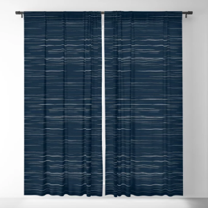 blackout curtains in white navy