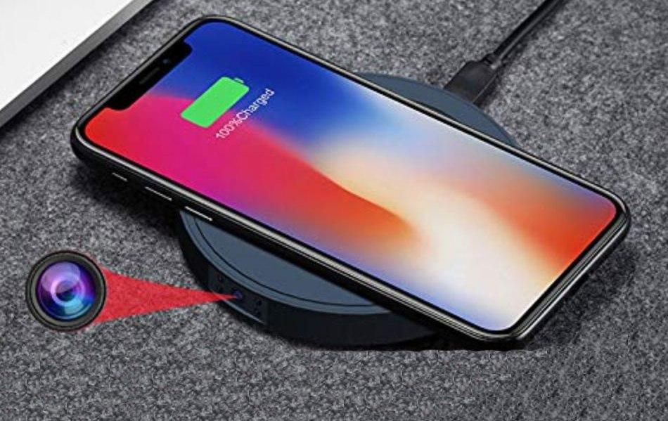 best wireless charger hidden camera
