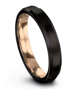 Gold-Plated & Black Tungsten Band