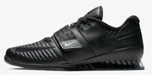 black gym shoes weightlifting nike